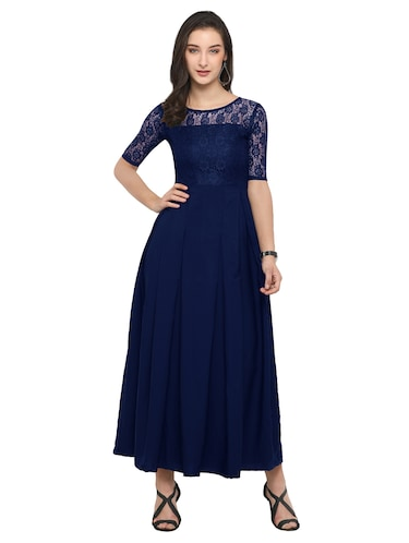 solid lace gown - 14896819 - Standard Image - 1