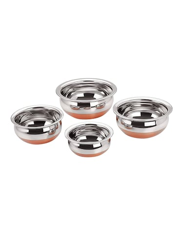 Stainless Steel Copper Cookware Handi Set of 4 pcs - 14897587 - Standard Image - 1