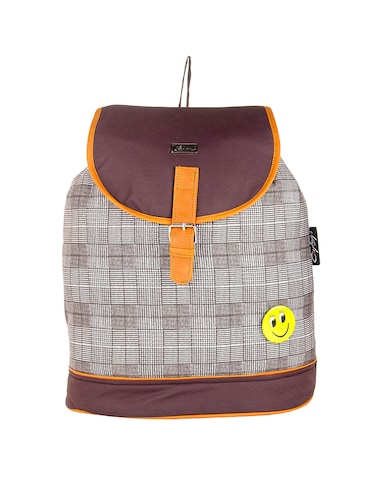brown  leatherette backpack - 14898486 - Standard Image - 1