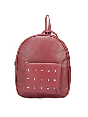 red leatherette backpack - 14898487 - Standard Image - 1