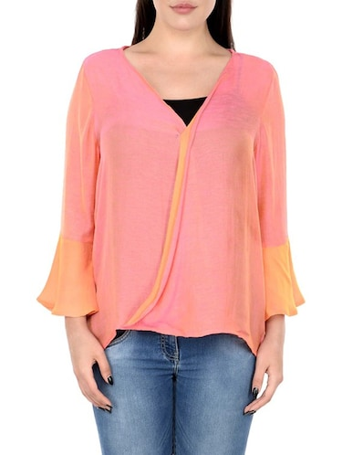 pink pure silk plus top - 14898939 - Standard Image - 1