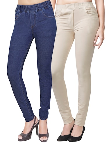 set of 2 multicolored jeggings - 14899770 - Standard Image - 1
