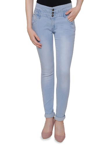 light blue denim jeans - 14901861 - Standard Image - 1