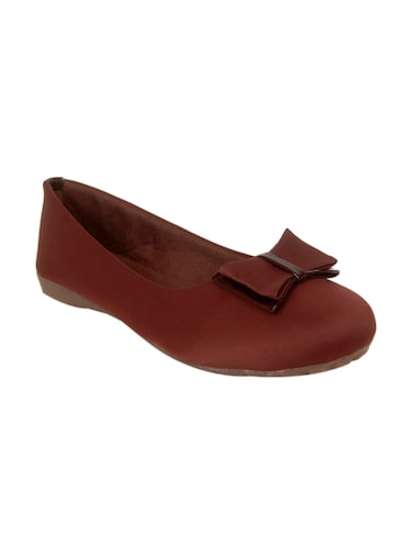 brown faux leather slip on ballerina - 14902416 - Standard Image - 1