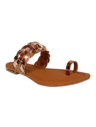 brown one toe sandal - 14902430 - Standard Image - 1