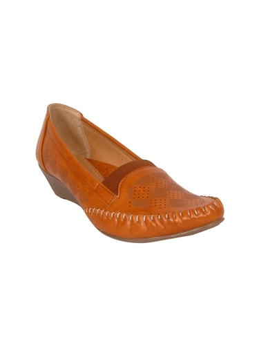 tan faux leather slip on loafers - 14902449 - Standard Image - 1
