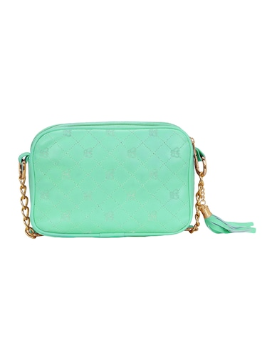 green leatherette regular sling bag - 14903025 - Standard Image - 1