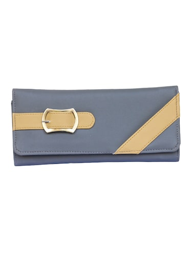 grey leatherette (pu) ethnic clutch - 14903424 - Standard Image - 1