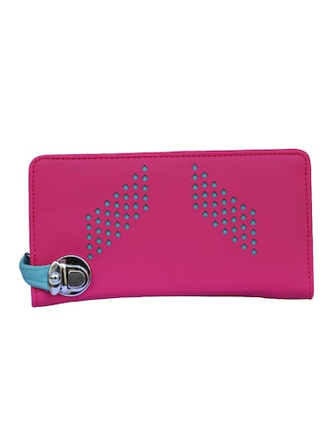 pink leatherette clutch - 14903432 - Standard Image - 1
