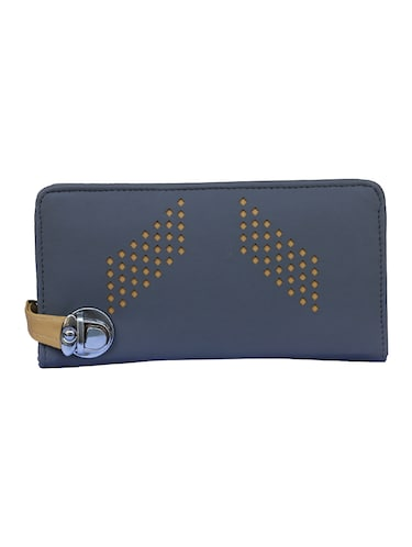 grey leatherette clutch - 14903434 - Standard Image - 1