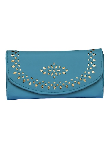 blue leatherette clutch - 14903440 - Standard Image - 1