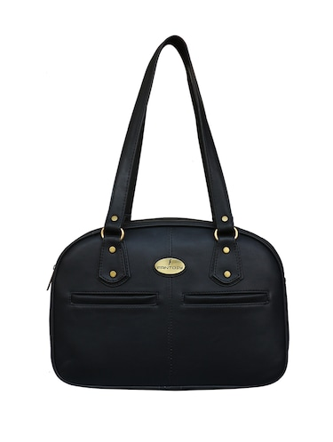 black leatherette regular handbag - 14903449 - Standard Image - 1