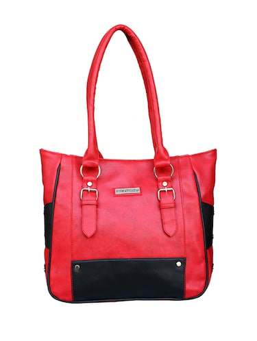 red leatherette  regular handbag - 14903451 - Standard Image - 1