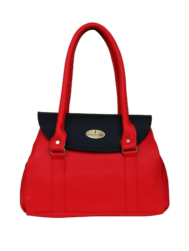red leatherette  regular handbag - 14903455 - Standard Image - 1
