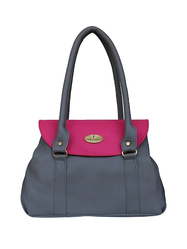 grey leatherette regular handbag - 14903458 - Standard Image - 1