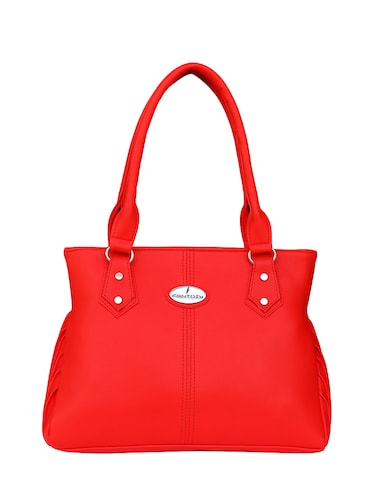 red leatherette  regular handbag - 14903474 - Standard Image - 1