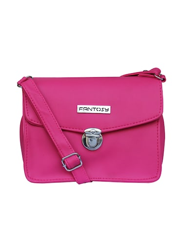 pink leatherette  regular sling bag - 14903493 - Standard Image - 1