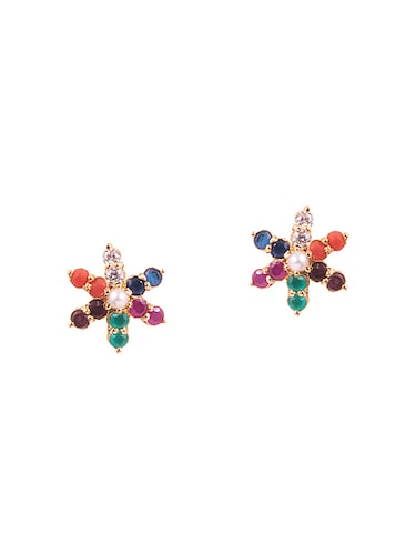 multi colored metal studs earrings - 14905064 - Standard Image - 1