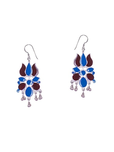 multi colored metal drop earrings - 14905070 - Standard Image - 1