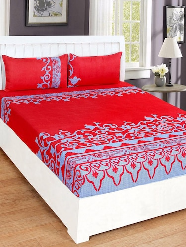 3D Printed Double bedsheet with 2 Pillow Covers - 14905543 - Standard Image - 1