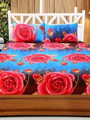 3D Printed Double bedsheet with 2 Pillow Covers - 14905545 - Standard Image - 1