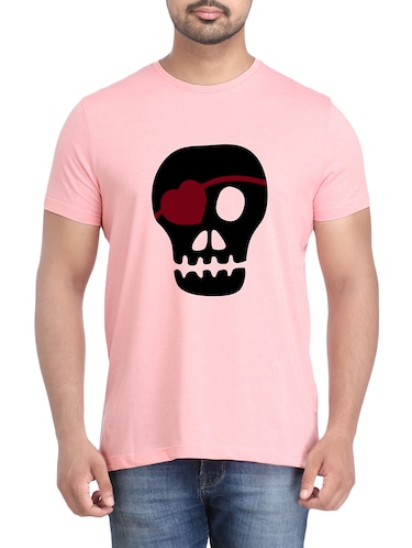pink cotton chest print tshirt - 14905598 - Standard Image - 1