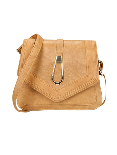 beige leatherette  regular sling bag - 14905670 - Standard Image - 1