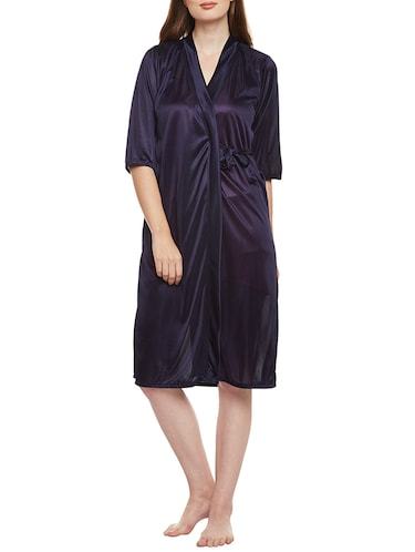 multi colored nighty with robe - 14907427 - Standard Image - 1