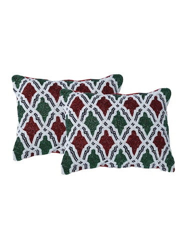 Set of 2 Embroidered Cushion Covers - 14908330 - Standard Image - 1