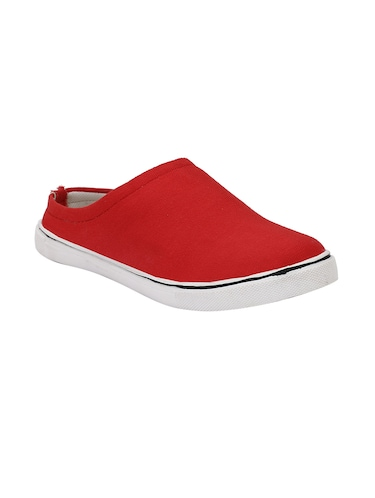 red Canvas slip on mules - 14908783 - Standard Image - 1