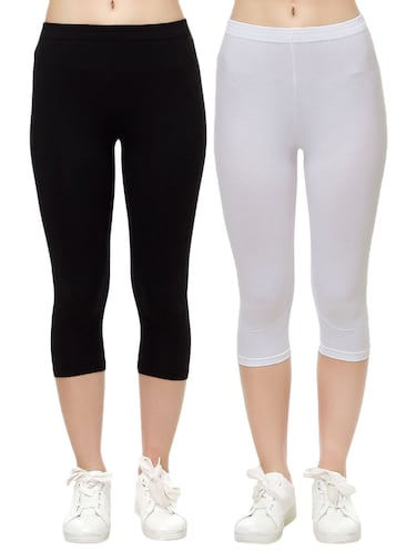 set of 2 multi colored capri legging - 14909296 - Standard Image - 1
