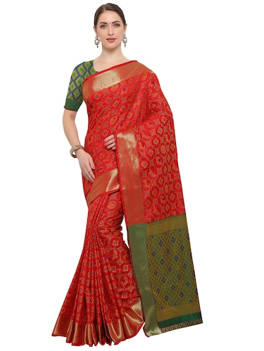 Conversational woven saree with blouse - 14909566 - Standard Image - 1