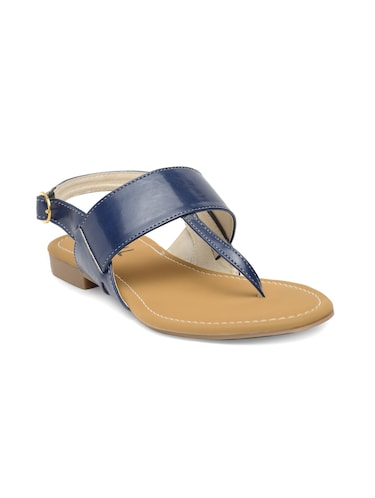 blue faux leather back strap sandals - 14910355 - Standard Image - 1