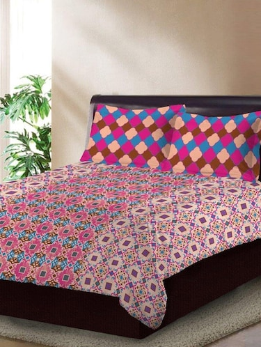 Cotton 180 TC Cotton Bedsheet with 2 pillow covers - 14910490 - Standard Image - 1