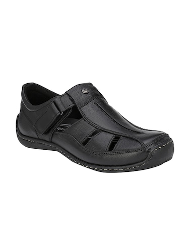 black Leather slip on sandal - 14910842 - Standard Image - 1