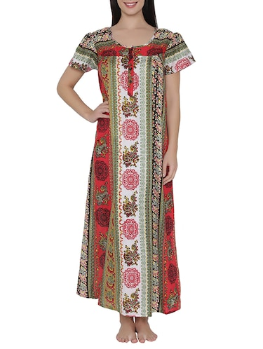 multi colored nightwear gown - 14911422 - Standard Image - 1