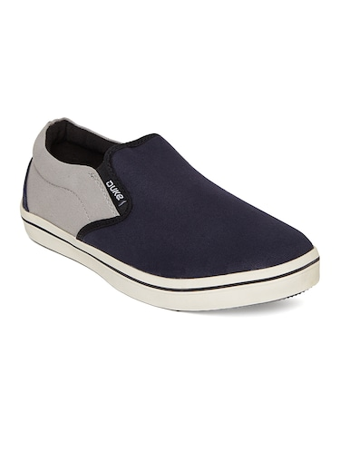 navy Canvas casual slipon - 14912587 - Standard Image - 1