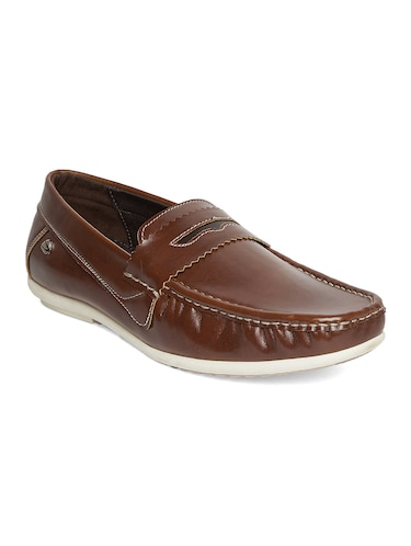 brown leatherette slip on loafer - 14912596 - Standard Image - 1