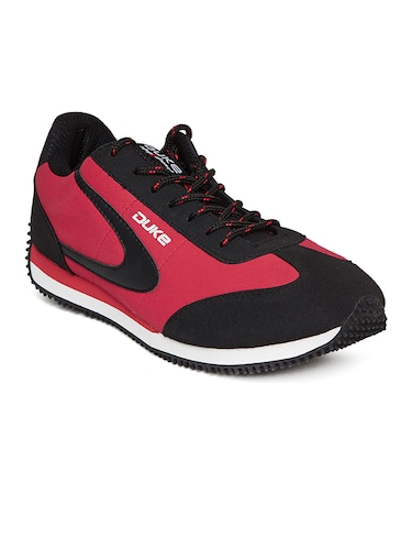 red leatherette sport shoe - 14912637 - Standard Image - 1