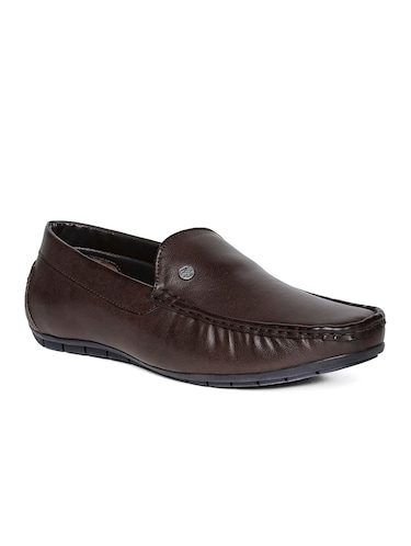 brown leatherette office wear loafer - 14912939 - Standard Image - 1