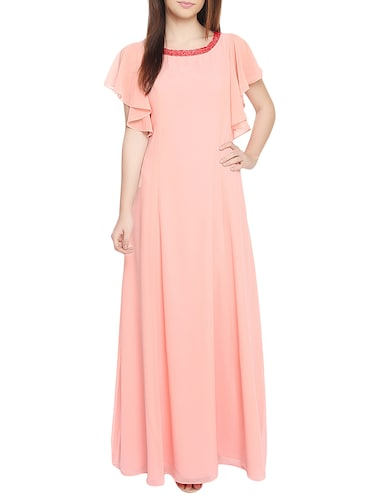 Red couture orange maxi dress - 14913736 - Standard Image - 1