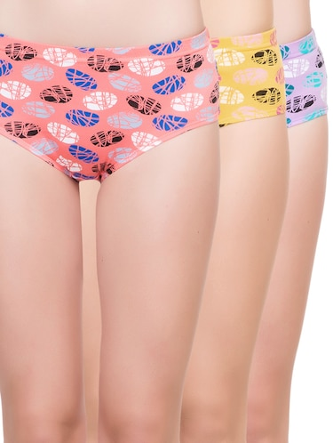 set of 3 multi colored hipster panty - 14915514 - Standard Image - 1