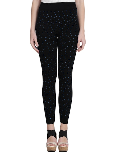 black printed cotton jegging - 14915620 - Standard Image - 1