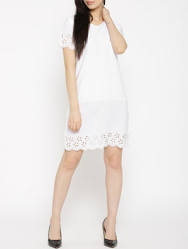 solid white a-line dress - 14915973 - Standard Image - 1