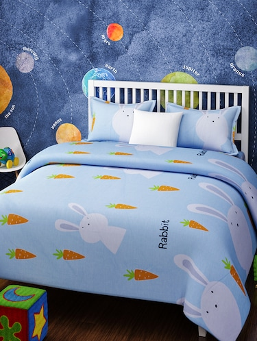 CARTOON PRINT DOUBLE BEDSHEET WITH 2 PILLOW COVERS - 14916207 - Standard Image - 1