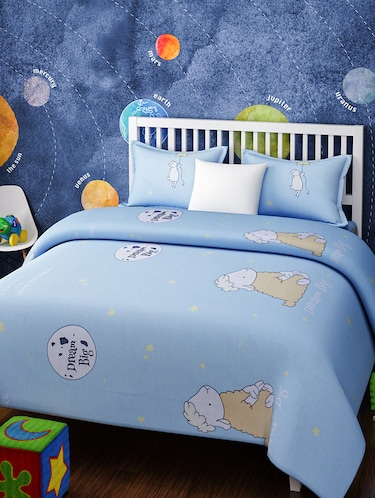 KIDS DREAM BIG SHEEP BLUE AND WHITE BEDSHEET SET - 14916230 - Standard Image - 1