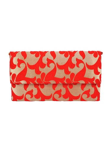 red polyester fold over clutch - 14918174 - Standard Image - 1