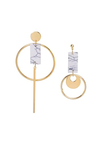 white copper drop earrings - 14918547 - Standard Image - 1