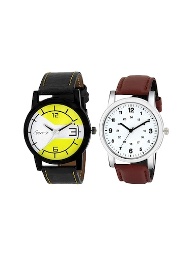 GEN-Z Combo of two Classic and Yellow Watches - 14918922 - Standard Image - 1