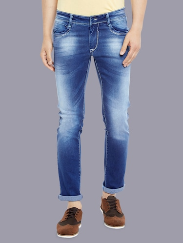 blue denim washed jeans - 14920942 - Standard Image - 1